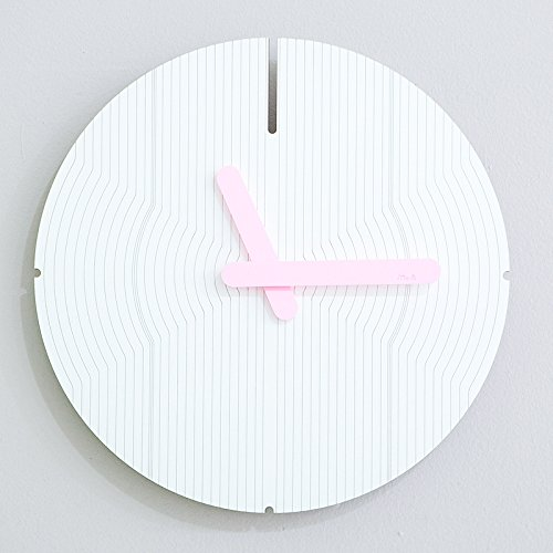 HONGYUANZHANG Charakter Wanduhr Wohnzimmer Uhr Haushalt Hängenden Watch Mute Wanduhr (31,5 X 31,5 cm) EIN Rosa