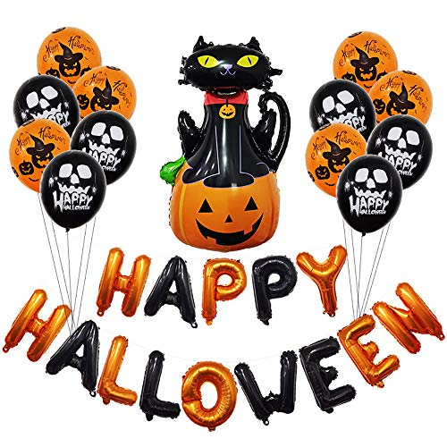 JLCP Halloween Bunting Banner Flag Kürbis Pendant Ballons Festliche Feier Party Liefert Dekoration Requisiten Indoor Outdoor,1