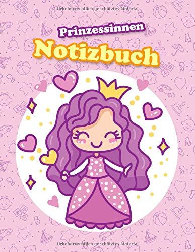 Prinzessinnen Notizbuch: Liniertes Schreibheft mit Rand und 100 Seiten im A4 Format