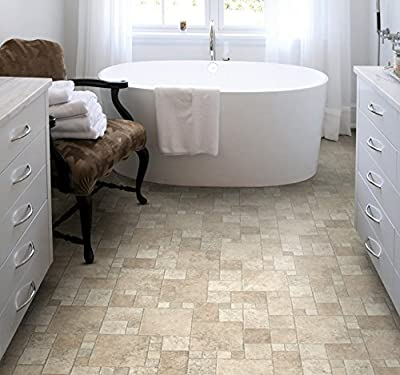 Your New Floor Quality Non Slip Cushioned Vinyl / Lino Flooring Natural Flagstone produced by YOUR NEW FLOOR - quick delivery from UK.
