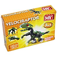 Carousel Toys and Gifts MY Building Bricks Dinosaur 3 In 1 Construction Set ~ Velociraptor