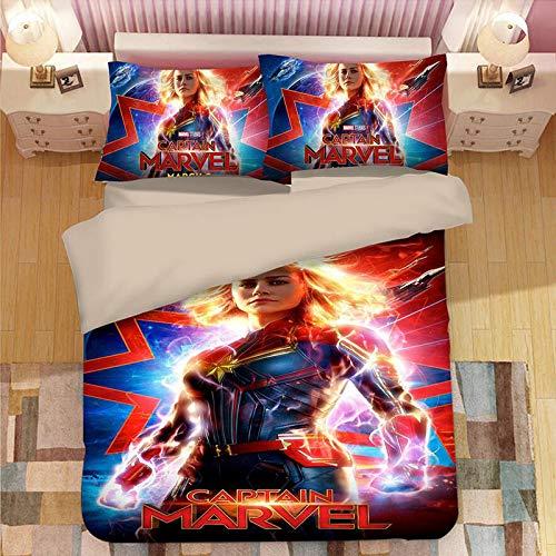 BEDDINGSET Marvel Surprise Captain Series Bettwäsche Vierteilige Bettwäsche Bringt Farbe Ins Leben 02-AU Queen(210x210)