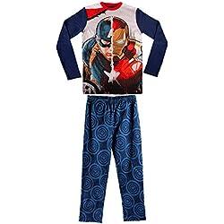 1723 Pijama de algodón para niños motivo Iron-man & Capitán América 6 a 12 años (6 años)