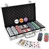 Powerpak Casino Style Poker Chips Set with a Aluminium Case 300 Pieces