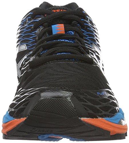 Asics Gel-Nimbus 18, Chaussures de Sport Homme Multicolore (Onyx/Silver/Blue Jewel)