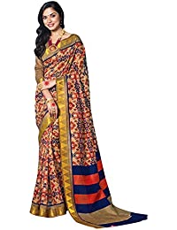1613ea31cf9d20 Viva N Diva Sarees For Women s New Collection Party Wear Cotton Silk Saree  With Un-