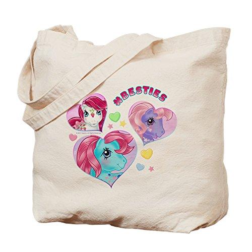CafePress–My Little Pony Retro Hashtag Besties–Leinwand Natur Tasche, Reinigungstuch Einkaufstasche S khaki (My Little Pony-geschenk-tasche)