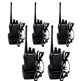 Retevis H-777 Walkie Talkie Ricetrasmittente UHF 400-470MHz 16 Canali  Ricetrasmettitore con Auricolare(5 pezzi) immagine