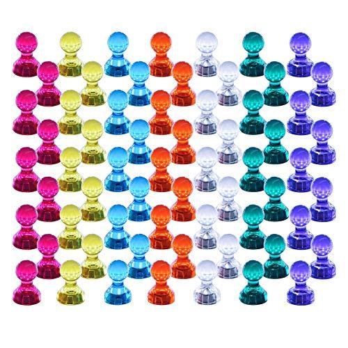 Push Pin Imanes, 60 unidades, color fuerte magnético chinchetas, perfecto imanes para pizarra, nevera, mapa y calendario Magenesis