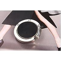 philna12portátil plegable bolso de mano mesa gancho monedero gancho (negro)