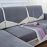 HMWPB Wasserdichte sofabezug Für Haustiere Hund Sectional Sofa Spitze Anti-Rutsch Wasserfeste Schmutzabweisend Couch-Abdeckung Sofabezug Beschützer der möbel für Wohnzimmer-grau 90x160cm(35x63inch)