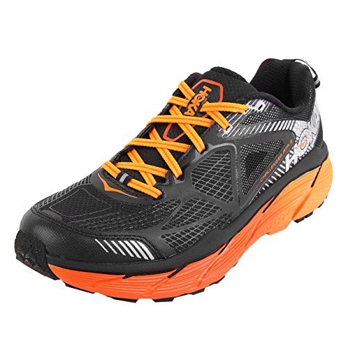 Hoka One One Challenger Atr 3, Scarpe da Trail Running Uomo, Multicolore (Black / Red Orange), 44 EU