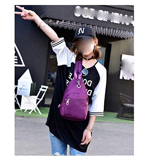 LAIDAYE Damen Schultertasche Nylon Messenger Bag Oxford Damen Taschen Mini Taschen Reisetasche Red
