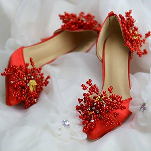 Minitoo MinitooUK-MZ8246, Escarpins Pour Femme Red-9cm Heel