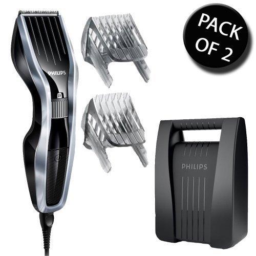 2 x Philips HC5410/83 schnurgebunde Haarschneidemaschine mit 2 Bart Haarkämme mit Koffer