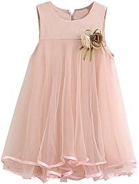 66b04a008 Niña Princesa Vestido,Sonnena Encaje Vestido de sin Manga para bebé Niña  Flores Vestido Estilo