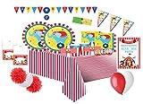 Creative Converting Kit N 72 Coordinato Compleanno Circo + Festa in Carta a Tema Circo