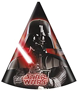 Héroes y villanos del partido Unqiue Star Wars Party Hats (paquete de 6)