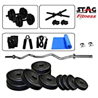 Stag 3 Ft Curl Rod Set with Yoga Mat 16 kg SFPC16GHSYD Home Gym Set