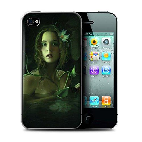 Officiel Elena Dudina Coque / Etui pour Apple iPhone 4/4S / Par le Vent Design / Un avec la Nature Collection Bain Caché