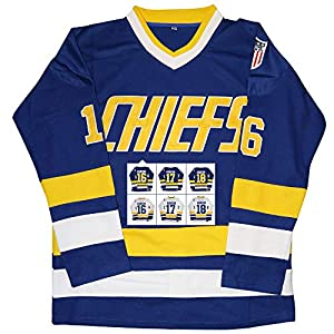 Kobejersey Hanson Brothers Trikot Charlestown Chiefs 16,17,18 Slap Shot Eishockey Movie Jersey