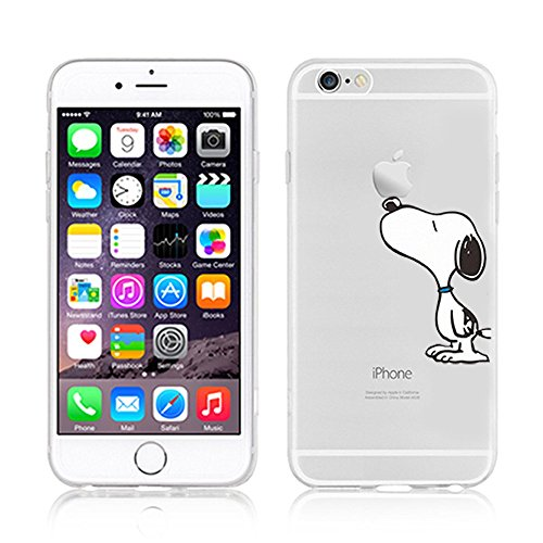 Ronney 's Ständer Disney Cartoon transparent TPU Soft Case für Apple iPhone 6/6S & 6 + 6 + S, Kunststoff, CHIP & DALE, Apple iPhone 6/6S SNOOPY