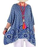 Photo de Charleselie94® - Tunique Grande Taille Longue été Bleu Jean Regine Bleu par Charleselie 94 Since 1994 Prêt à porter