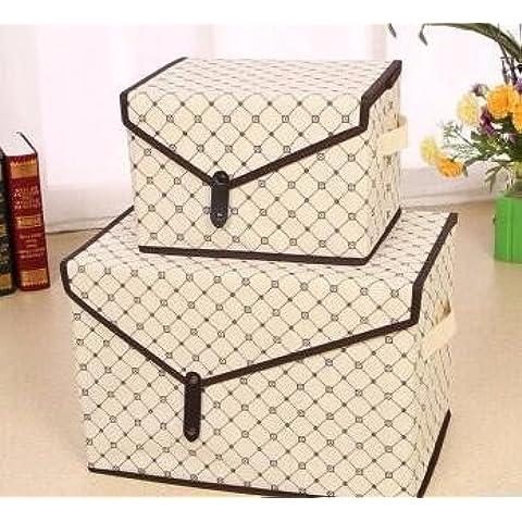 AQPDJAdmitir chasis ambiental ropa , la caja de almacenamiento de desechos esquina 3 cartucho de organizar la cadena cubierta de rejilla