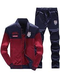 online store 0a84e fd89c Homme Survêtement 2 Pièces Manches Longues Zipper Baseball Veste  Sweat-Shirt + Jogging Pantalons