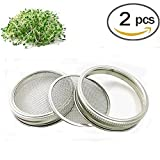 Acero inoxidable sprouting Jar Strainer Lid – Fits Wide Mouth Mason Jars for growing Sprouts