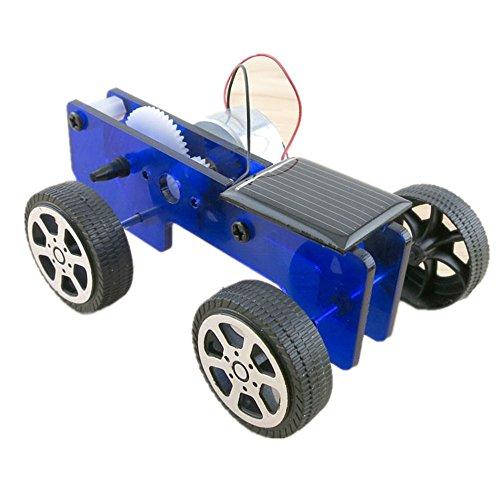 PLFUR Kit de Coche para niños con energía Solar Juguete DIY Gadget Educativo Hobby Divertido 1 Unidades Mini (A)