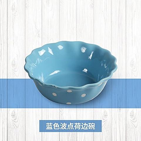 Saladiers de service bols en céramique 16,5cm cuits à la vapeur Riz Salade de fruits Bol à soupe