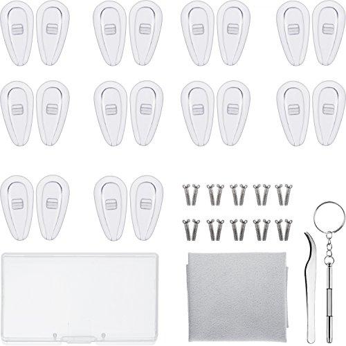 Kit de reparación de gafas - 10 Pares de almohadillas de nariz con cámara de aire