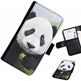 Hairyworm- ours panda Samsung Galaxy S3 Mini (I8190, I8190N) étui en cuir pour téléphone avec rabat, style portefeuille avec emplacements pour les cartes et l'espèce, et fermeture magnétique.