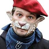 Maschera animale Carlo da Vinci maschera mezzo volto