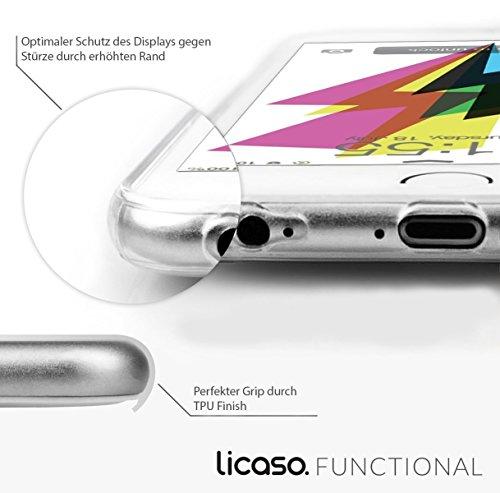 licaso® iPhone TPU Hülle Disney Case transparent klare Schutzhülle Disney Hülle iphone6 Tasche Case (iPhone 6 6S, Panda 3) Arielle schwarz sitzt