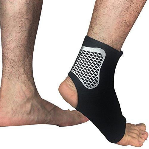 Herren Ein Paar Damen Knöchel Unterstützung Hosenträger Fuß Elastische Wraps Für Laufen Basketball Walking Jogging Schwarz XL