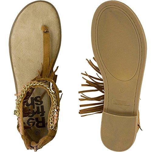 Refresh Women Sandals Sandalen 63386 Camel