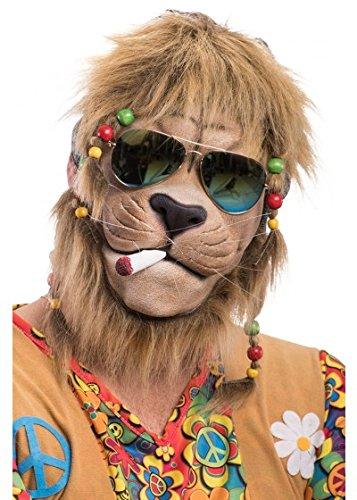TH-MP Coole Löwen Maske Hippie Style Reggae Outfit Partylöwe - Wilden Löwen Kostüm