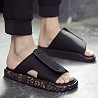 fankou Verano Antideslizante Zapatillas Zapatos Sandalias de Playa Que Son Frescas en Verano y Moda Ocio y Marea,39,906 Oro Negro