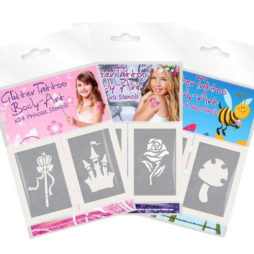 great-offer-3-packs-of-glitter-tattoo-stencils-for-girls-72-stencils-in-total