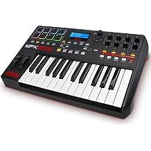 AKAI Professional MPK225 -Teclado controlador MIDI USB de 25 teclas semi-contrapesadas, pads MPC y paquete de software