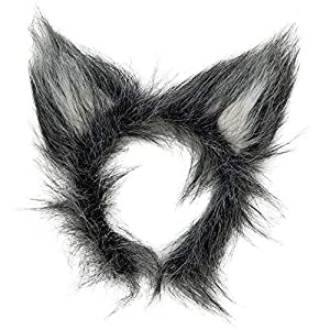 WIDMANN Aptafêtes AptafêtesAC5138?Diadema de Orejas de Lobo con Pelo