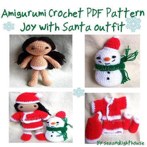 Joy with Santa outfits - Amigurumi Crochet Pattern (English Edition)