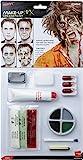 Smiffys Déguisement Adulte, Kit de zombie en latex, Peinture pour le visage, faux sang, sang en gel, latex liquide, 39094