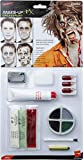 Smiffys Kit de zombi de látex, pintura facial, sangre falsa, sangre en gel, látex líquid