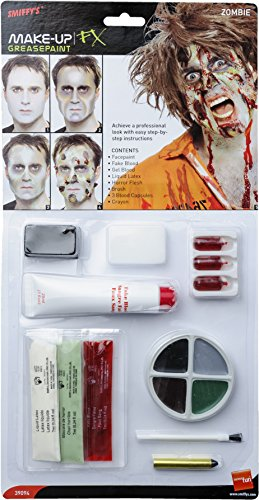 Zombie Latex Kit, Face Paint, Fake blood, Gel Blood, Liquid Latex, Hor