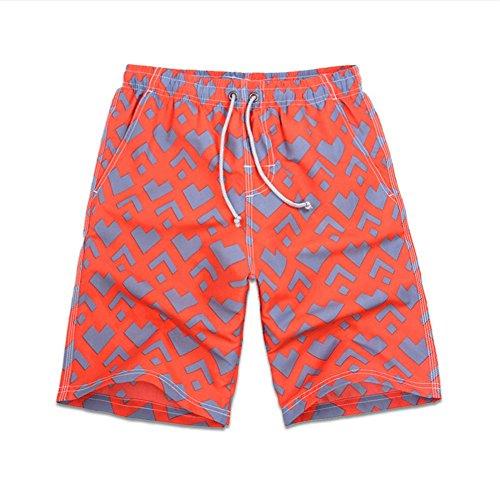 HYHAN Männer Sommer Outdoor-Sport-beiläufige Hosen Schnell trocknend Wandern Wasserdicht Kurz Fitness Strandhosen Orange