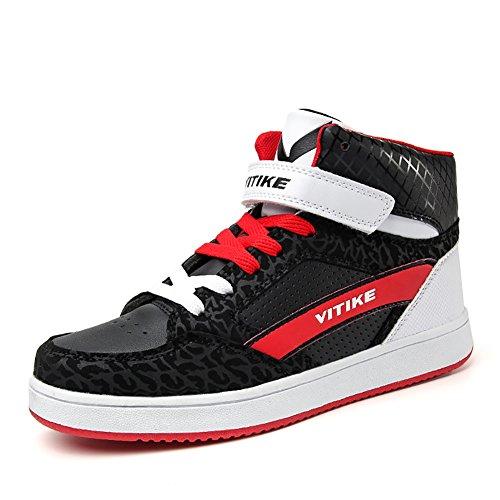 ASHION Sneaker Turnschuhe Basketballschuhe Schuhe für Kinder (36 EU, Schwarz) (Kinder Military Stiefel)