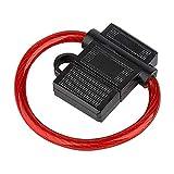 Audioproject A210 - Sicherungshalter ATC max 40A mit 6mm² 10GA Kabel Spritzwasser geschützt - Extra Dickes Kabel für Flachsicherung
